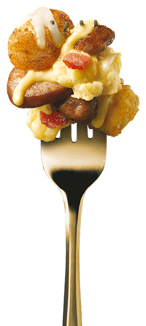 all-day-breakfast-double-sausage-bacon-loaded-tots fork image