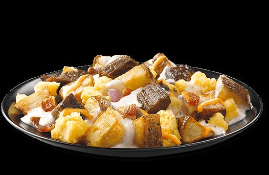 all-day-breakfast-steak-n-eggs-with-creamy-gravy plate image