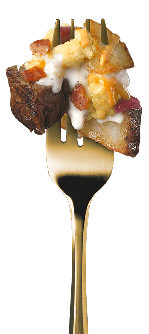 all-day-breakfast-steak-n-eggs-with-creamy-gravy fork image