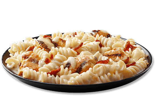 creamy-bacon-alfredo-mac-cheese-with-chicken plate image