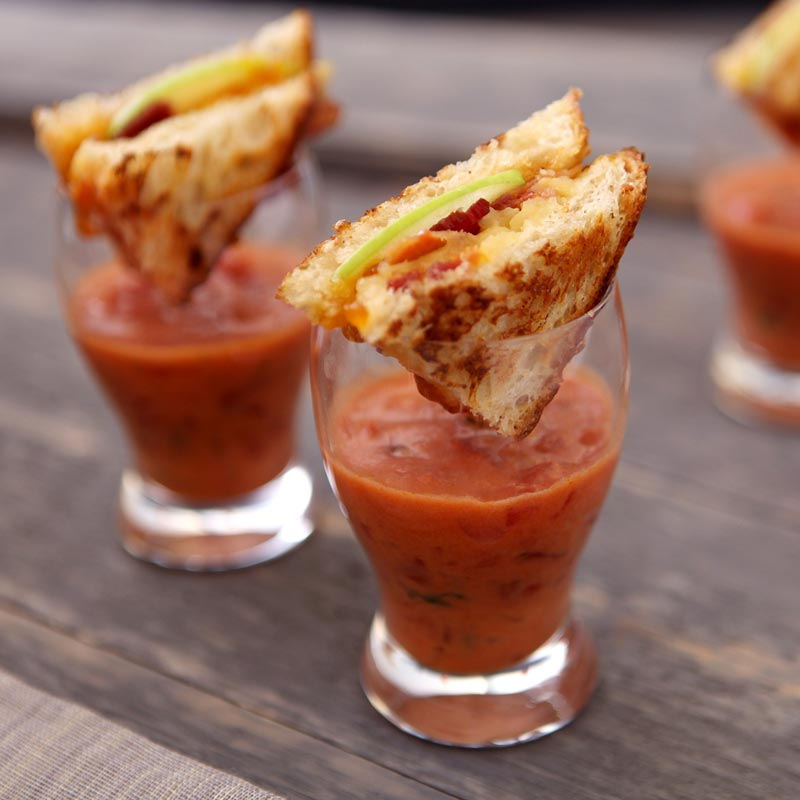 Grilled Cheese and Tomato Soup Appetizer