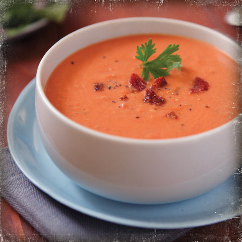 Smoky Tomato Bacon Soup