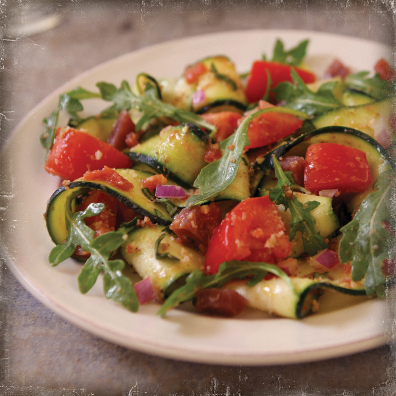 Fresh Zucchini and Tomato Salad