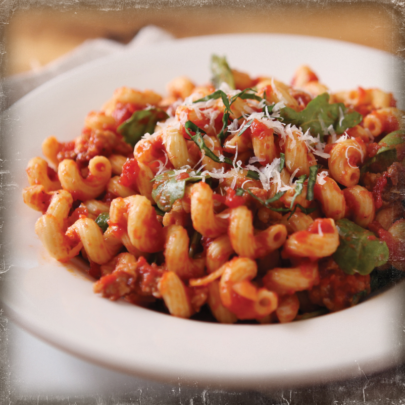 Arugula and Spicy Sausage Cavatappi