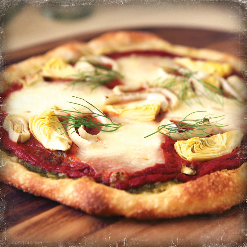 Roasted Fennel and Artichoke Old World Pizza