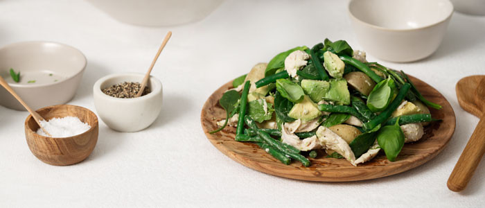 3 Greens Salad with Baby Potatoes & Chicken
