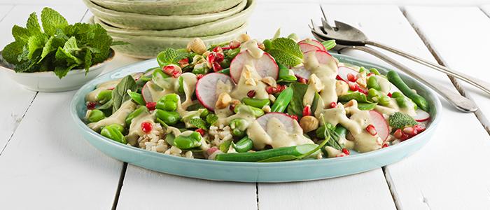 Brown Rice & Spring Vegetable Salad