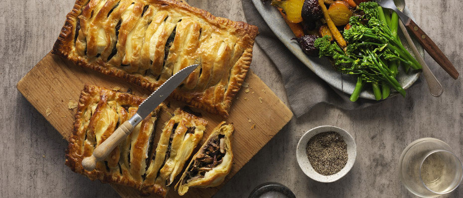 Mushroom, Spinach and Brie Wellington