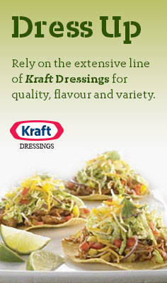 Dress Up - Rely on the extensive line of Kraft Dressings for quality, flavour and variety.