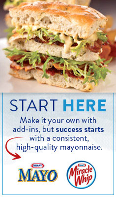 Start Here - Make it your own with add-ins, but success starts with a consistent, high quality mayonnaise.