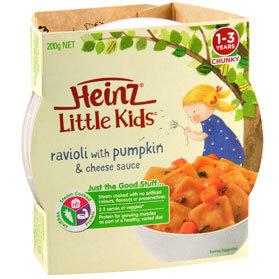 Heinz® Little Kids® Ravioli with Pumpkin & Cheese Sauce