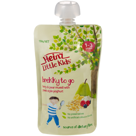 Heinz® Little Kids® Brekky To Go Berry & Pear Muesli with Greek Style Yoghurt