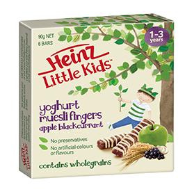 Heinz Little Kids Apple Blackcurrant Yoghurt Muesli Fingers