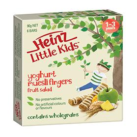 Heinz Little Kids Fruit Salad Yoghurt Muesli Fingers