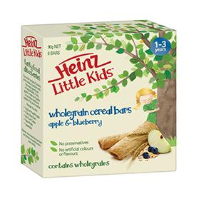 Heinz Little Kids Apple & Blueberry Wholegrain Cereal Bars