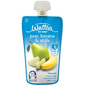 Wattie's Pear, Banana & Apple