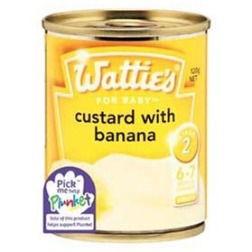 Wattie's Custard with Banana