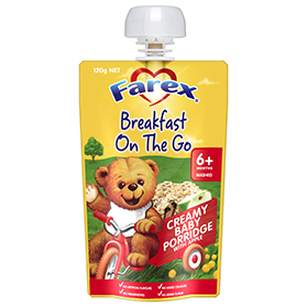 Farex Breakfast On The Go - Creamy Baby Porridge with Apple