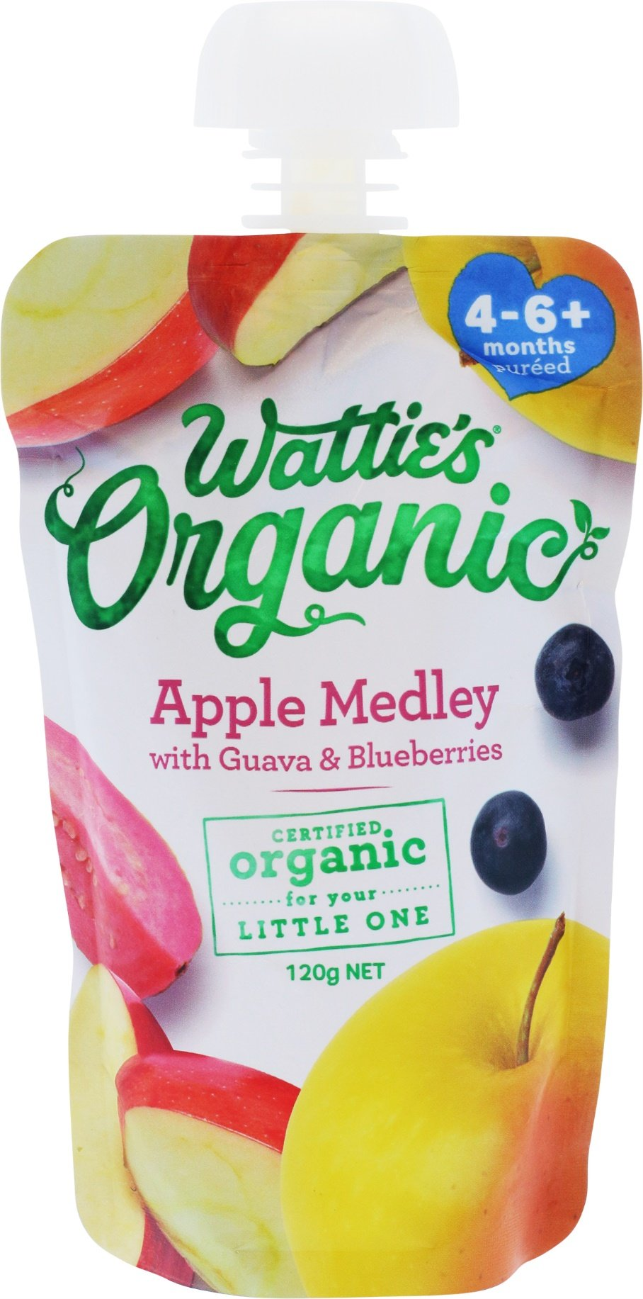 Wattie's Organic Apple Medley with Guava & Blueberries