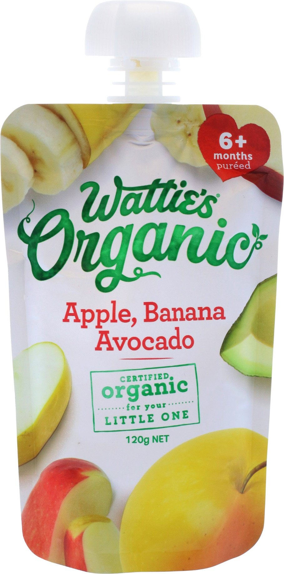 Wattie's Organic Apple, Banana & Avocado
