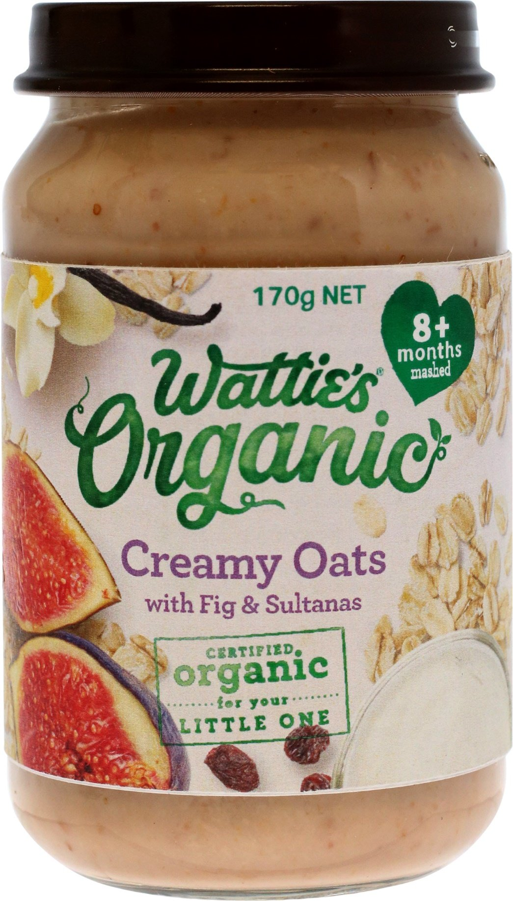 Wattie's Organic Creamy Oats with Fig & Sultanas