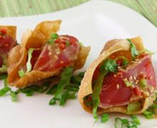 Tuna Poke Mini Tacos