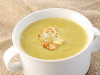 Broccoli & Roasted Cauliflower Cheese Soup