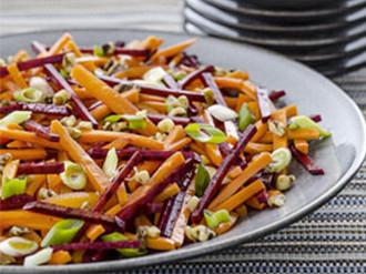 Carrot & Beet Salad with Walnuts