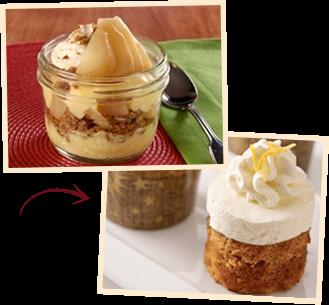 Lemony Gingerbread Mini Mousse Cakes
