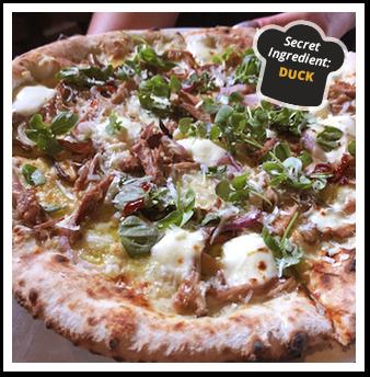 Duck Confit & BBQ Sauce Pizza