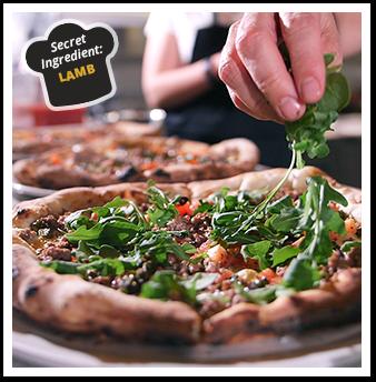 Lamb Pizza with Basil and Lemon Dill Aioli