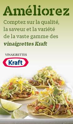 Améliorez - Comptez sur la qualité, la saveur et la variété de la vaste gamme des vinaigrettes Kraft.