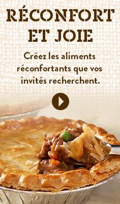 Réconfort et joie - Créez les aliments réconfortants que vos invités recherchent.