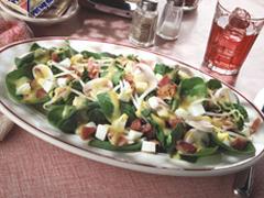 Salade d'épignards campagnarde
