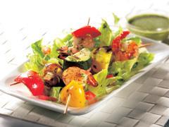 Zesty Shrimp & Vegetable Kabob