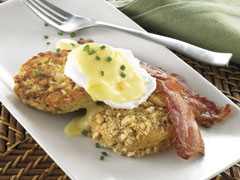 Turkey Hash with Buttery Biscuits and Eggs