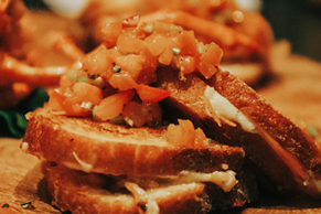 Lobster & Asiago Grilled Cheese with Peach Chutney