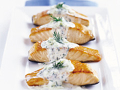 Salmon with Creamy Dill Sauce image