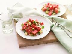 Salade de melon d'eau, de concombre et de féta