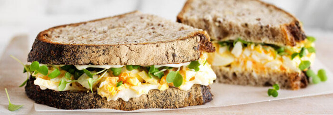 Smashed Egg Sandwiches