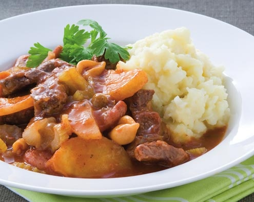 Beef Chorizo Casserole with Cauliflower Mash