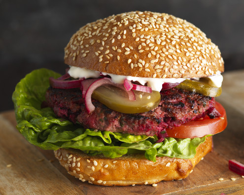 Beef and Beetroot Burgers