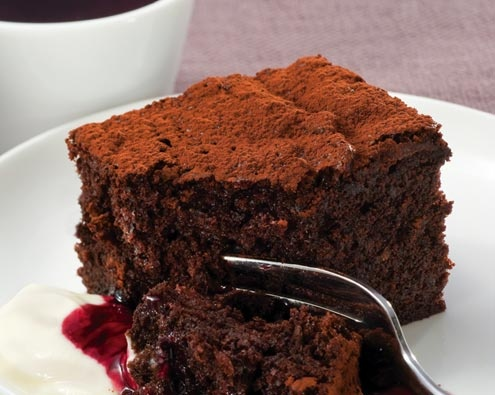 Boysenberry Chocolate Brownie