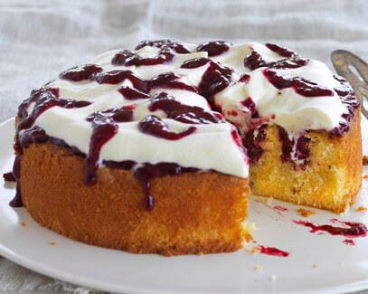 Boysenberry Poke Cake