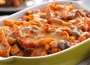 Cheesy Chicken & Roasted Vegetable Pasta Bake