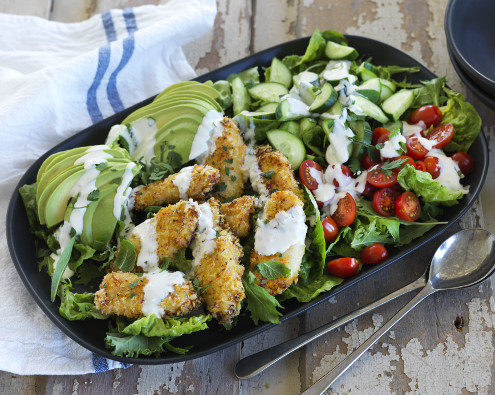 Crispy Chicken Ranch Salad