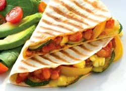Crispy Mexican Bean and Vegetable Tortillas