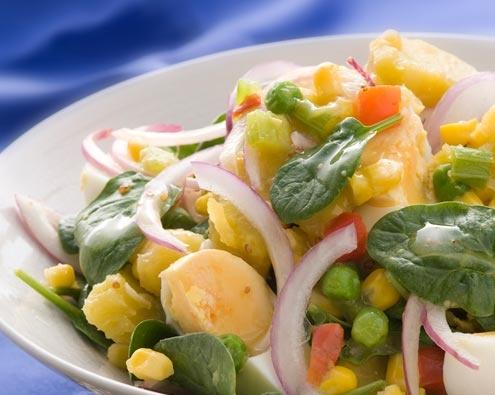 Honey Mustard Kumara Salad