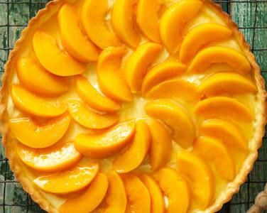 Peach and Lemon Flan
