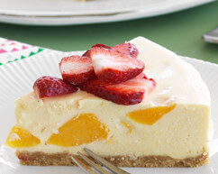 Peach and Maple Cheesecake